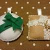 フェルトの手作りクリスマスオーナメント~プレゼントボックス2種~